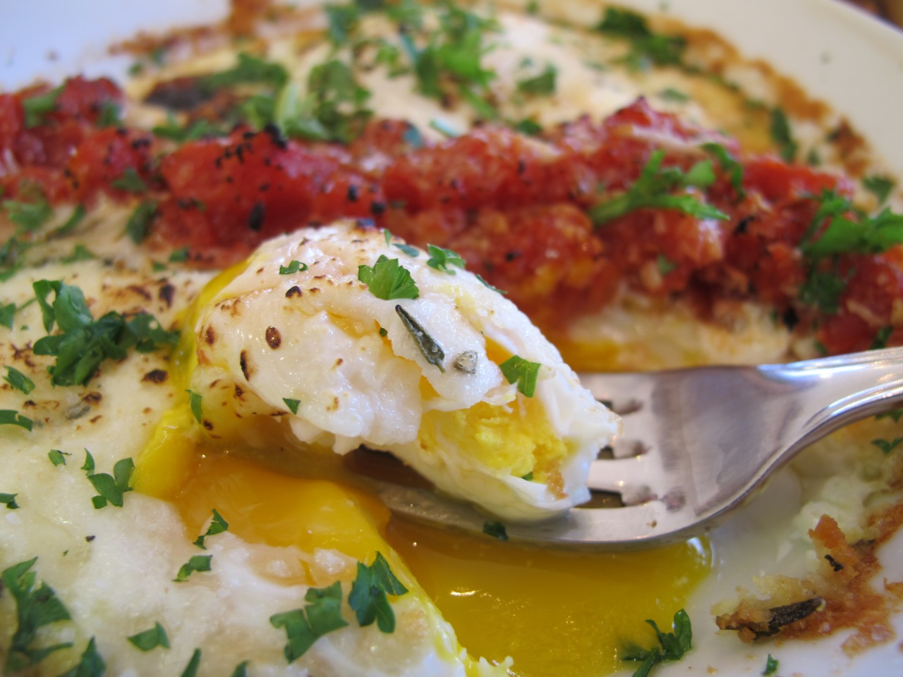 """Baked Eggs Are Cracked And Baked In A Dish €�shirred"""" Refers To The  Flatbottomed Dish In Which They're Frequently Cooked They're Almost  Always Mixed With"""