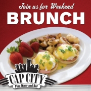 Enjoy brunch at Cap City Fine Diner & Bar!