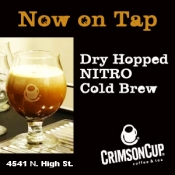 Try dry-hopped nitro cold brew coffee from Crimson Cup!